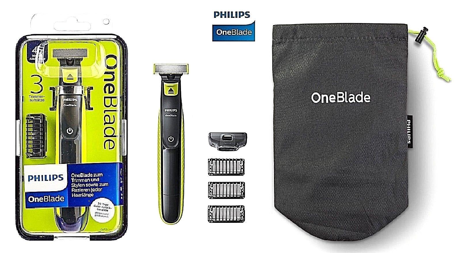 Philips One Blade QP2520/62 Rasierer 3 Aufsätze Neu Ovp Bartschneider abwaschbar