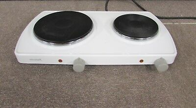 MICROMARK MM9862 DOUBLE COOKING HOT PLATES 1.5KW AND 1KW COOKER CAMPING CARAVAN