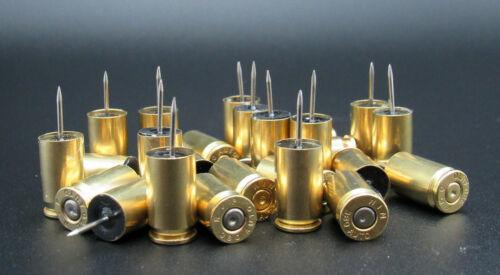 25 Bullet Push Pins 380 ACP, Brass Bullet Cases, 380 ACP Thumb Tacks $14.99 Sale