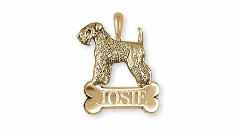 Soft Coated Wheaten Terrier Jewelry 14k Gold Handmade Wheaten Pendant  SCW121X-N