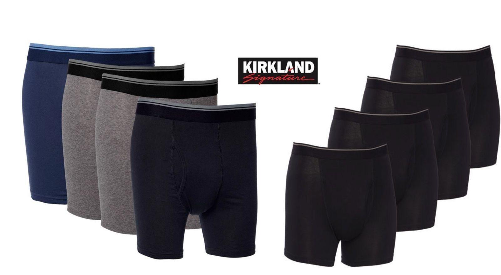 Kirkland signature Men's 4 Pack Pima Cotton Boxer Briefs