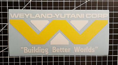 Alien   Aliens   Weyland Yutani Corp Logo Two Tone   Vinyl Decal