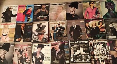 Used, 24 Behind the Chair Professional Hair Stylist Inspiration Education Magazine Lot for sale  Newark