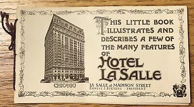 Vintage Hotel LaSalle Chicago, Illinois String Tied Little Book with Prices