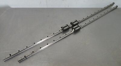 C176969 Lot 2 Thk Linear Slide Rails 1213mm 1334mm W 3 Hsr20 Bearing Blocks