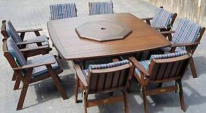 SUNCOAST KWILA 10 PIECE WITH CUSHIONS OUTDOOR SETTING Woody Point Redcliffe Area Preview