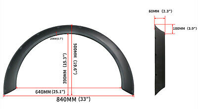 4PCS Universal Car Fender Wheel Wide Arches Flare Extension Polyurethane 60mm