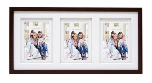 Deknudt Galerierahmen mit Doppelpassepartout für 3 Bilder 13x18 cm  Multirahmen