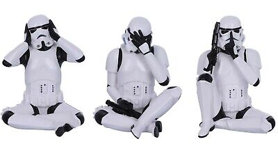 Official Star Wars Three Wise Stormtrooper Figurines - Hear, See, Speak No Evil