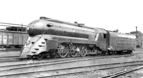 "RR Print-Baltimore & Ohio B&O 5304 ""Royal Blue"" at Philadelphia Pa 10/5/1940"