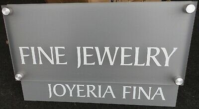 Fine Jewelry Store Display Sign New Old Stock.
