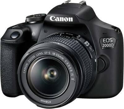 Canon EOS-2000D Digitale Spiegelreflexkamera EF-S 18-55mm IS II 24.1 Megapixel S