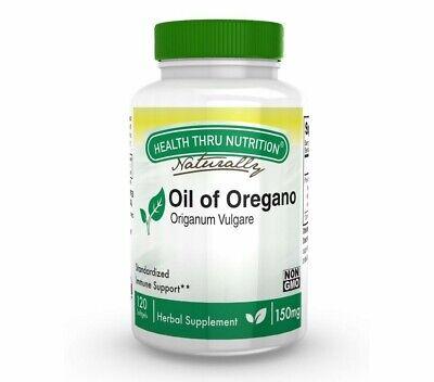 Oil of Oregano (Wild) 150 mg (non-GMO) (120 Softgels) - Health Thru...