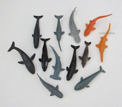 12 Mini Shark & Whale Figures Ocean Beach Birthday Party Goody Bag Favor - Whale Party Favors