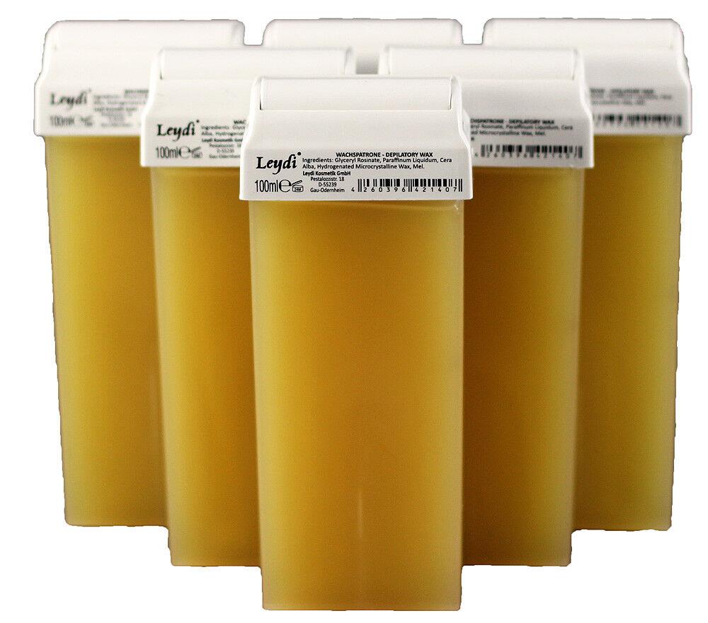 10 Warmwachspatronen 100ml Honig für Epilation Warmwachs Depilation siragda