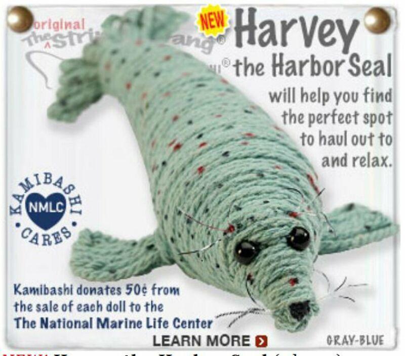 Kamibashi Harvey the Harbor Seal The Original String Doll Gang Keychain Clip