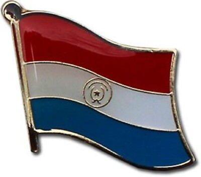 Wholesale Pack of 50 Paraguay Country Flag Bike Hat Cap lapel Pin