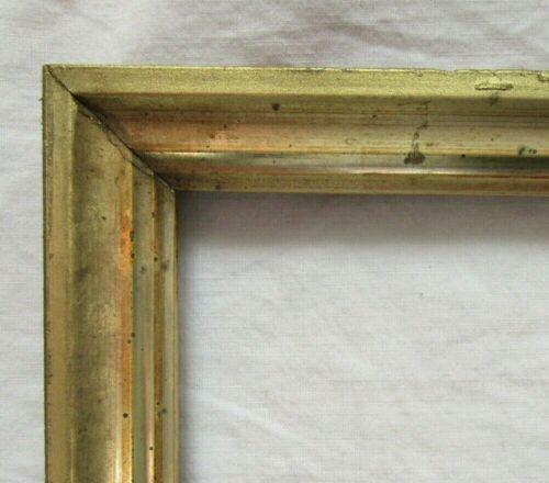 """ANTIQUE FITS 8.1"""" X 10.1"""" LEMON GOLD GILT WOOD PICTURE FRAME FINE ART VICTORIAN"""