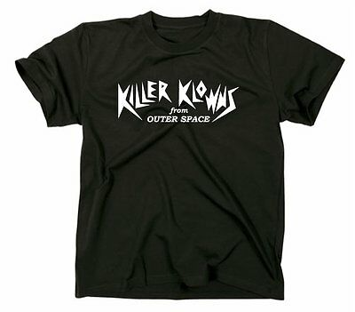 Killer Klowns From Outer Space T Shirt, movie Clowns Trash Movie Kult Logo ()