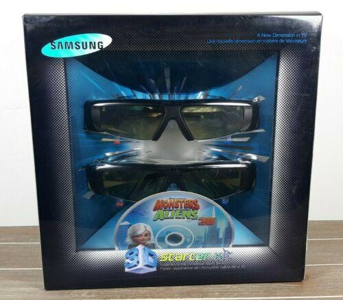 Samsung 3D Starter Kit - Monsters Vs Aliens 3D Blu-ray & 2 - 3D Active Glasses