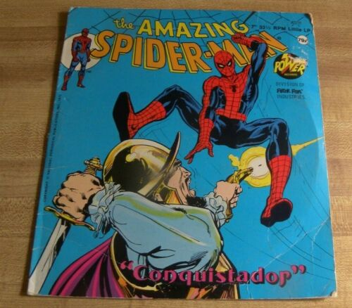 Marvel The Amazing Spider-man Power Record Peter Pan Conquistador