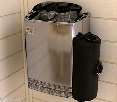 Saunaofen 3,6 kw, 230 V.mit Steuergerät,= Wasser Verdampfer & Tropfblech gratis
