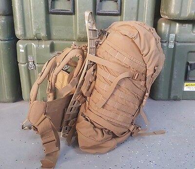 USMC Main Pack FILBE Ruck Sack Brown w/ Shoulder Straps MOLLE II Frame Belt USED