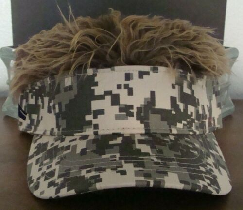 CAMO  Hats  with fake  hair