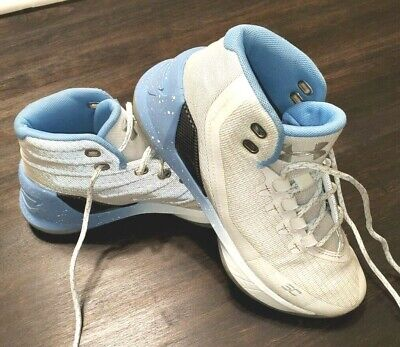 Under Armour Steph Curry 3 White Opal Blue Youth Boys Basketball Shoes Size 5Y
