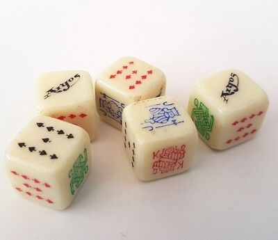 Poker Dice Argos Vintage Set Of 5