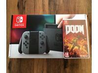 Brand New Nintendo Switch 32GB Grey + Doom Game - WS14 Area