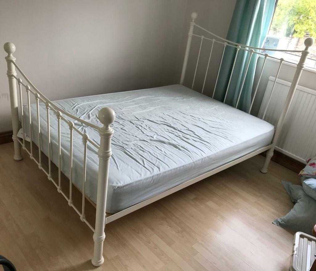 Ivory metal Double Bed