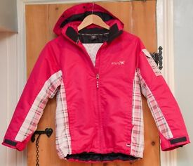 GIRLS SKI JACKET ROJO bright pink age 10 years EXCELLENT CONDITION HARDLY USED!!