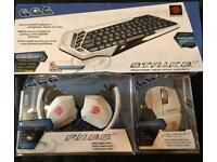 Mad Catz full Wireless kit, Headphones, Mouse + Keyboard for PC, TV, Mac ,Mobile+Gaming. New in Box