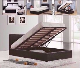 OTTOMAN BEDS FOR SALE ** KING SIZE OTTOMAN BED FRAME WITH FULL ORTHOPEDIC MATTRESS