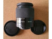 Sony DT 18-70mm (Alpha mount), f3.5 to 5.6 Lens + Lens Caps