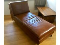 Contemporary Real Leather Chaise/DayBed