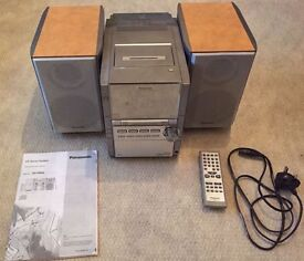 Panasonic CD/Radio and Cassette Tape with 5 CD Changer and 2 Speakers