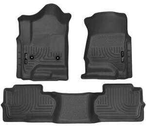 2014-2018 Chevy Silverado & GMC Sierra EXTENDED CAB Husky Liner Weatherbeater Floor Liners | Order Today at motorwise.ca
