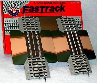 Lionel O FASTRACK Grade Crossing Track 2 Pak  #6-12036