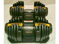 Weights dumbbells 80kg adjustable dumbells not Bowflex 5kg - 40kg per dumbbell