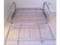 Double Futon Sofa Bed Metal Frame (no mattress). Very sturdy. Can deliver