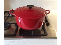 Le Crueset Oval Casserole Dish in Cerise Red
