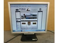 "1 lightly used 18"" Acer brand pc monitor silver frame"