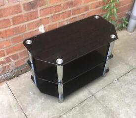 BLACK TEMPERED GLASS TELEVISION TABLE