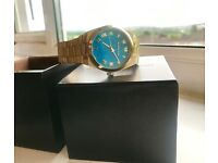 Michael kors gold and blue marbel watch