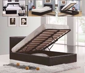 🔥💥Brand New 🔥💥Double Ottoman Storage Leather Bed 🔥💥with 13 Royal 1000 Pocket Sprung Mattress