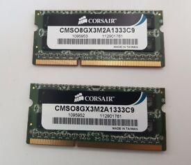 Corsair 8GB (2x4GB) DDR3 Laptop Memory