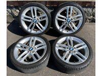 18'' GENUINE BMW F20 1 SERIES 2 461 M SPORT ALLOY WHEELS TYRES ALLOYS 5X120