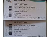 The Killers (Sold out tour) -- Genting Arena, Birmingham -- 7th Nov -- £60 Ea (I have 2 tickets!)
